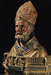 Busto de San Valero en La Seo de Zaragoza